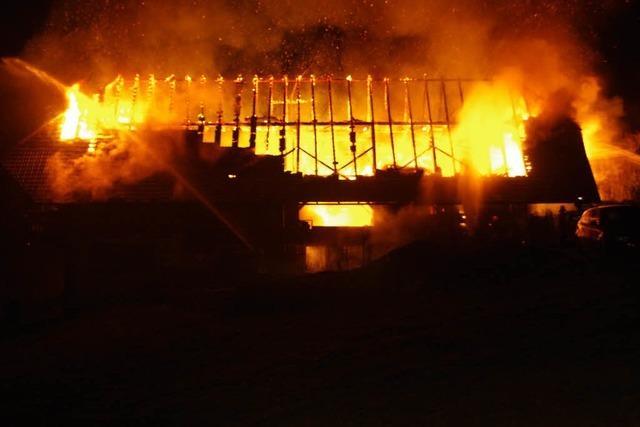 Bauernhof im Kinzigtal brennt ab