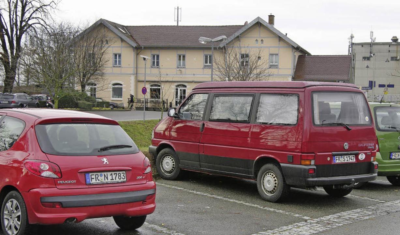 Ein Glücksfall: ein freier Parkplatz d...entiert Bürgermeister Martin Löffler.   | Foto: martin pfefferle