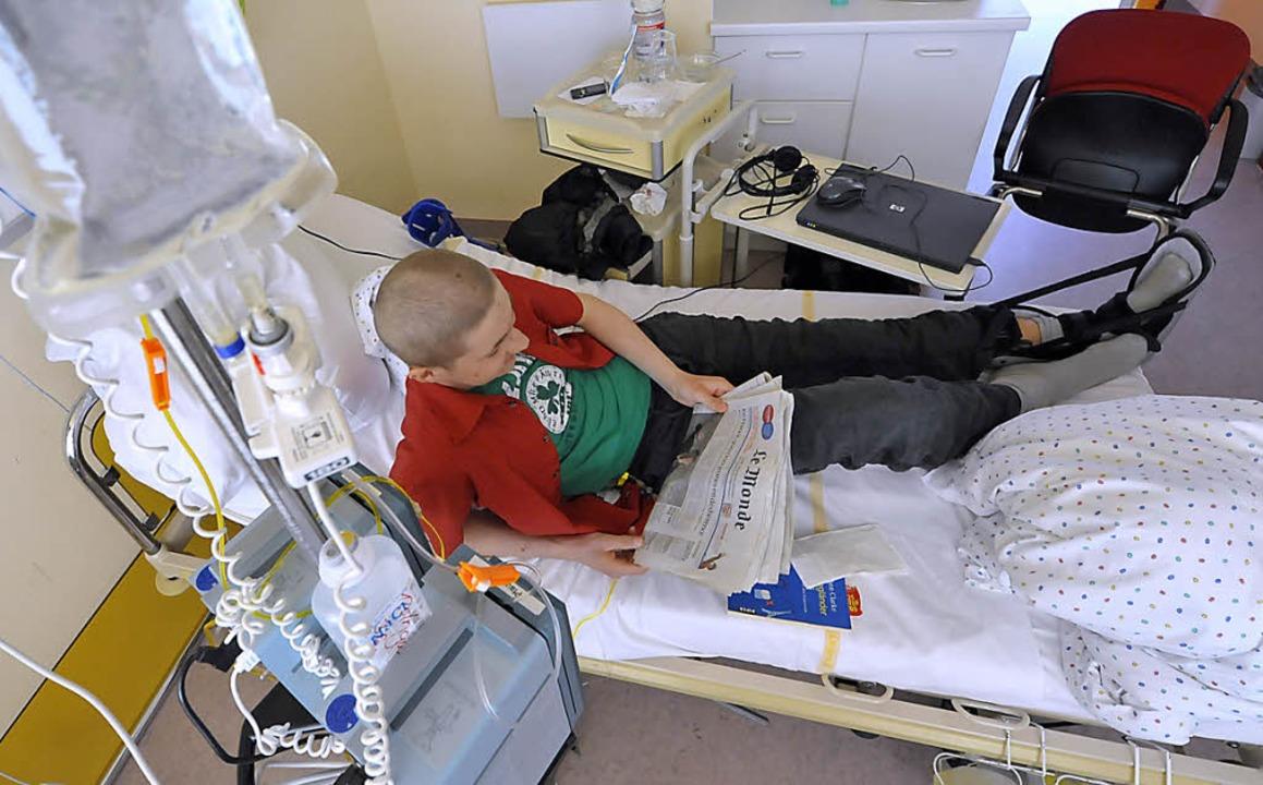 Drangvolle Enge: Patientenzimmer in der Uni-Kinderklinik.    Foto: Bamberger
