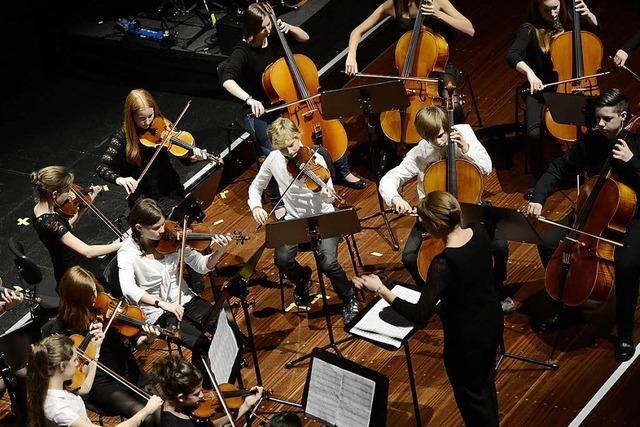 Junge Musiker spielen wieder um die Wette