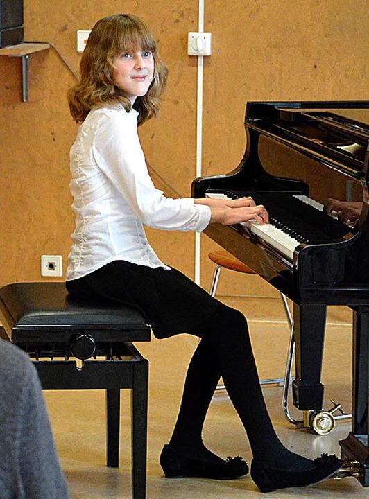 Schon oft erfolgreich: Polina Kraus am Klavier  | Foto: Barbara Ruda