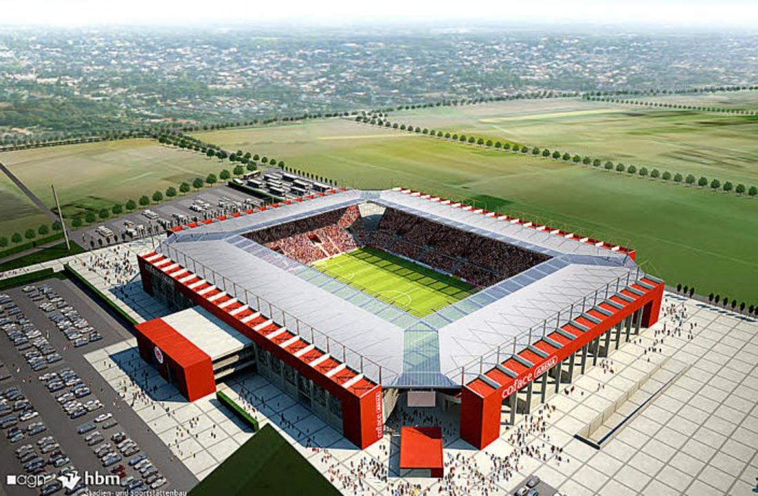 Die Coface-Arena wurde nicht ohne Widerstand gebaut.  | Foto: avp group
