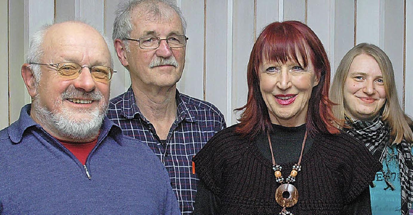 Karl Argast, sein Stellvertreter Jost ... Alle und  Silvia Wassmer (von links)   | Foto: Ounas-Kräusel