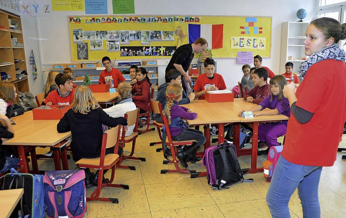 Zehntklässler der Schillerschule unter...ule, in den Themen Energie und Umwelt.  | Foto: Peter Gerigk