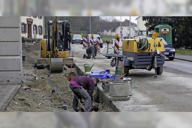 Die Bauarbeiter