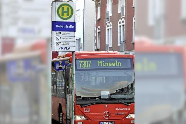 Buslinie 7307 fährt noch viel Luft