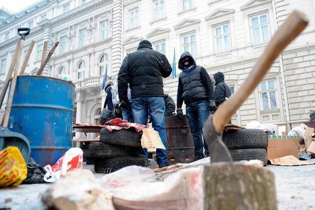 In Freiburgs Partnerstadt Lemberg kämpft man gegen den Präsidenten