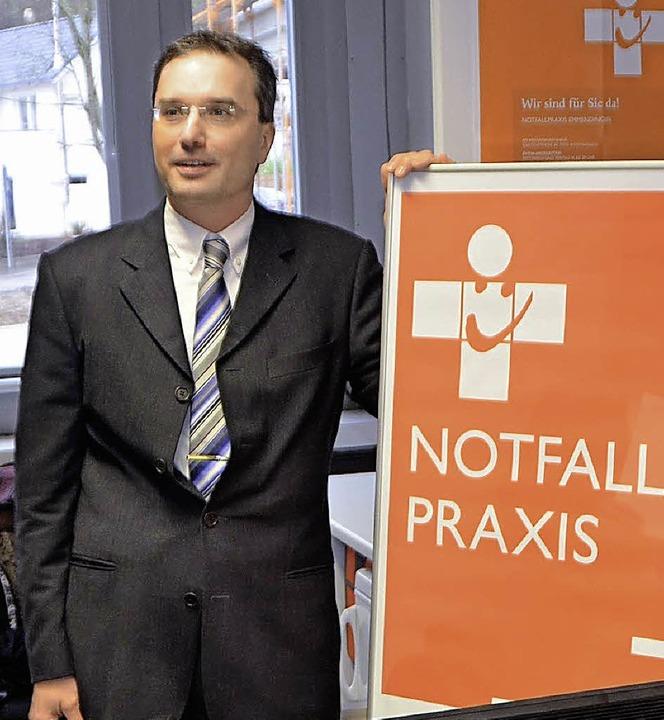 Dirk Kölblin,  Kreisbeauftragter für d...in der Aufnahme die künftigen Abläufe.  | Foto: Marius Alexander
