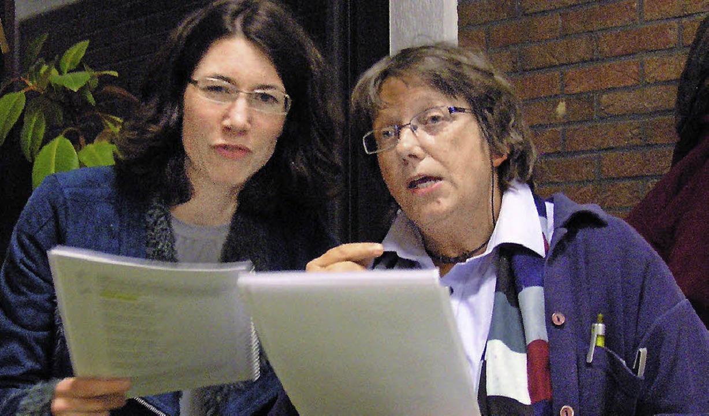Cornelia Schmidt (links) und Monika Rudolph  | Foto: Ute Schöler