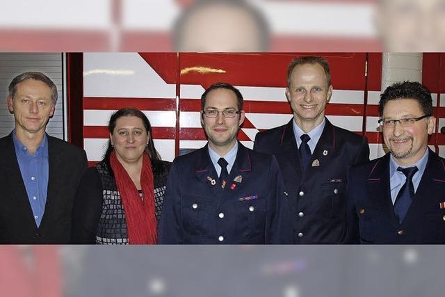 Neue Führung der Feuerwehr in Brombach