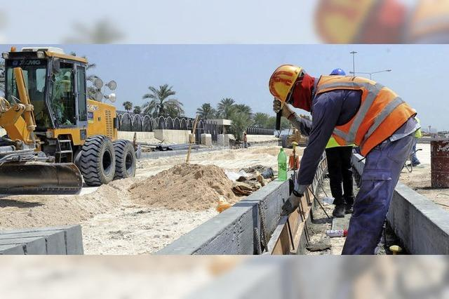 Empörung über tote Arbeiter auf den WM-Baustellen in Katar