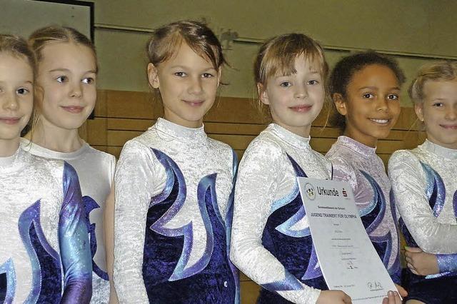 Turnerinnen Vizemeister beim Oberschulamtsfinale
