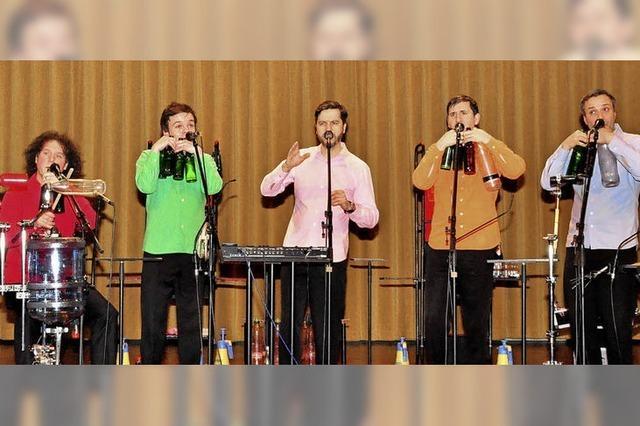 Flaschenmusik und toller A-cappella-Gesang