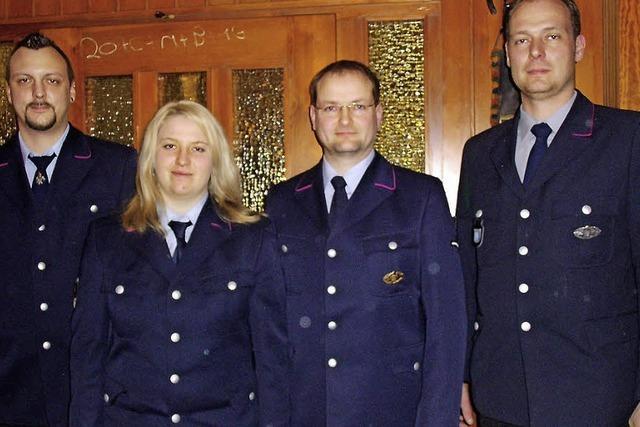 Feuerwehr Gündelwangen begrüßt ihre erste Feuerwehrfrau