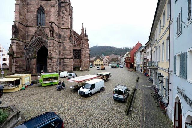 Südseite des Münstermarkts: Kunden und Händler bleiben weg