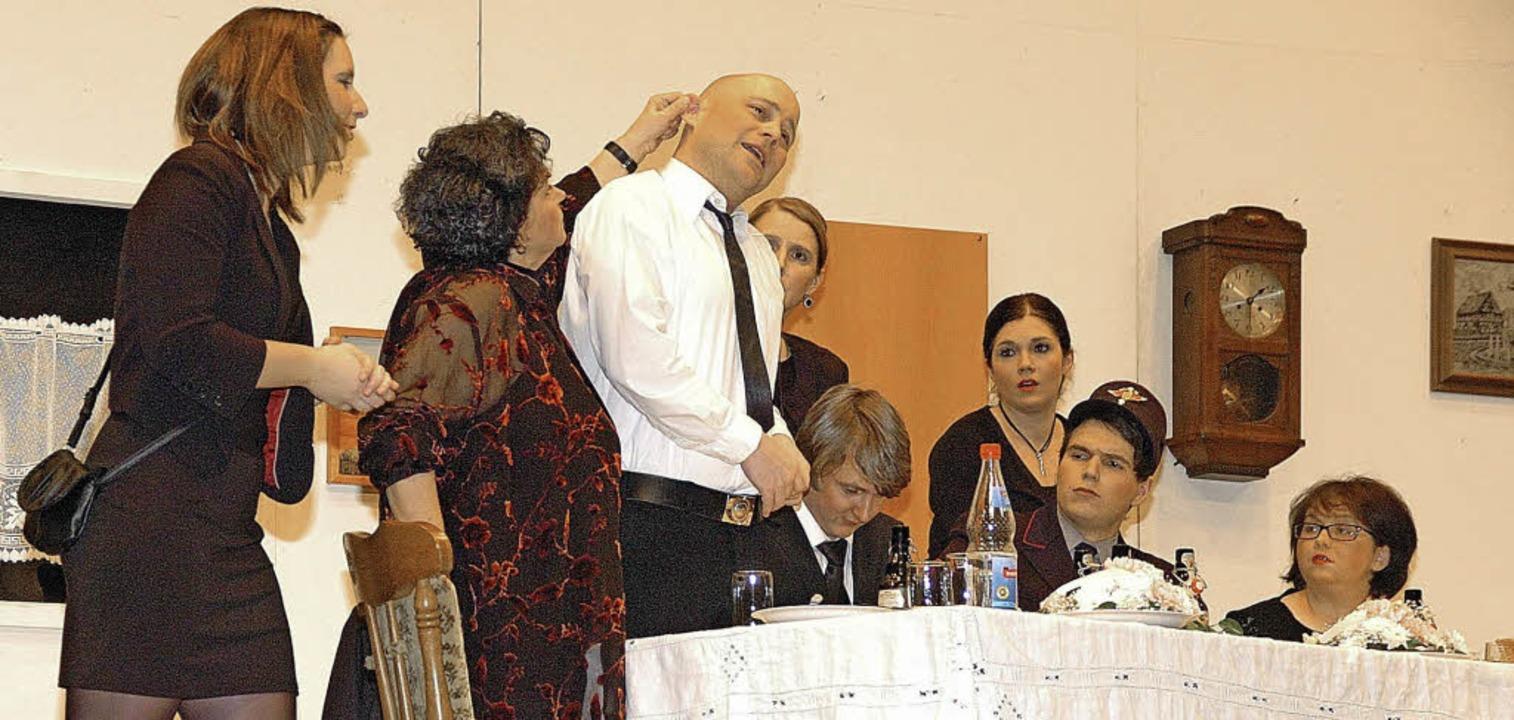 Turbulent ging es beim Theaterstück des Musikvereins Wyhl zu.   | Foto: Jürgen Schweizer