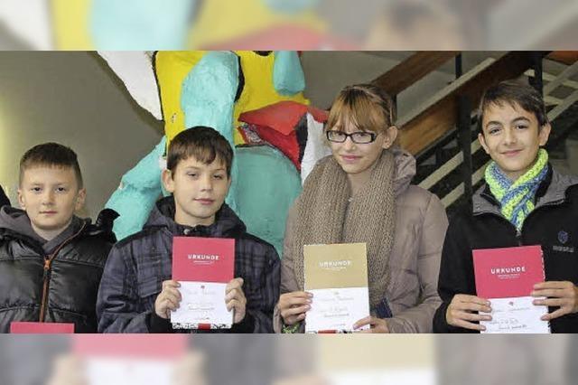 Vorlesewettbewerb an der Theodor-Heuss-Werkrealschule / Lesen mit dem SC