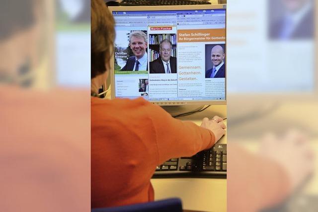 Werbung um die Wähler auch im Internet