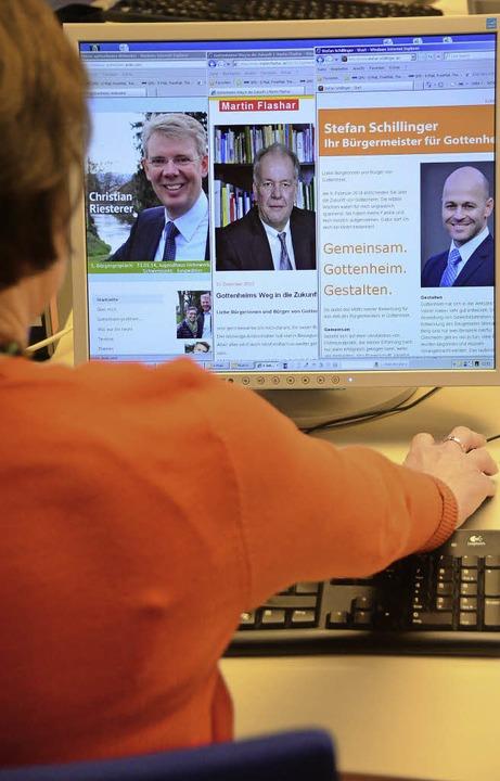 Wahlkampf im Internet: Drei der fünf B...ne persönliche Homepage eingerichtet.   | Foto: markus donner
