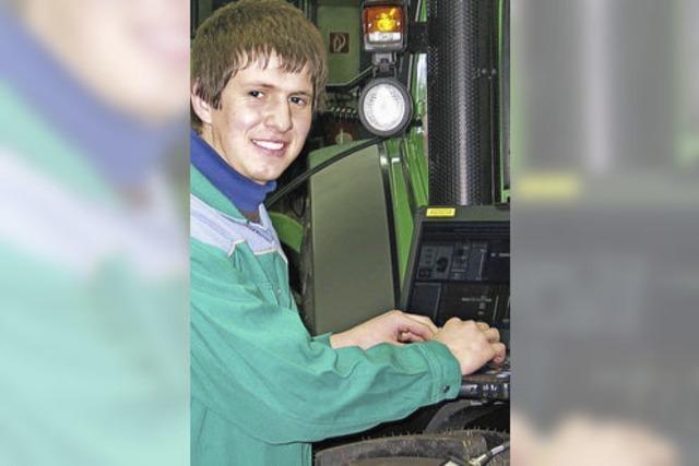 Ausbildungsberuf Maschinenmechaniker: Fabian Tritschler muss mit der Technik vertraut sein
