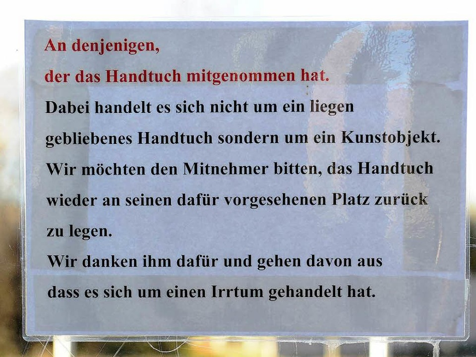 Der Steckbrief im Faulerbad.  | Foto: Ingo Schneider