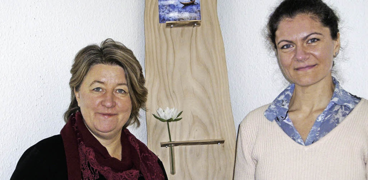Jolanthe Reis (rechts) ist neue Pflege...h. Susanne Gemke verabschiedete sich.     Foto: ZVG