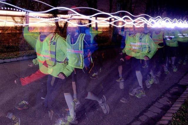 Wie Freiburger Läufer bei Dunkelheit trainieren