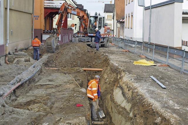 Sanierungsarbeiten laufen