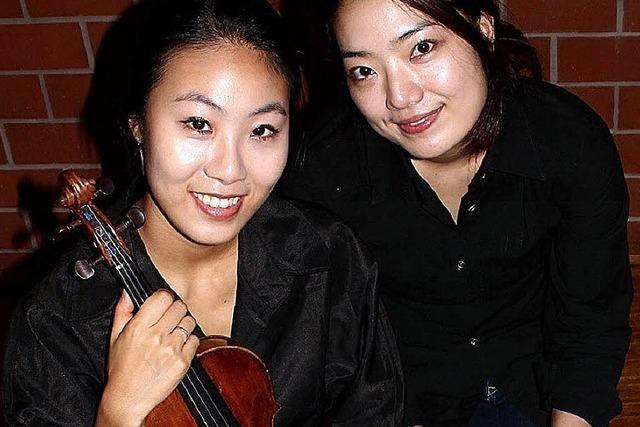Die Koreanerinnen Jihye Seo und Miji Cho gastieren in Wehr