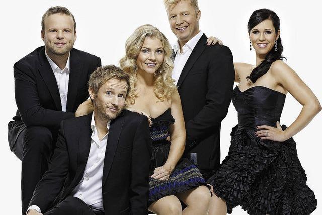 The Real Group aus Schweden singt im Burghof Lörrach