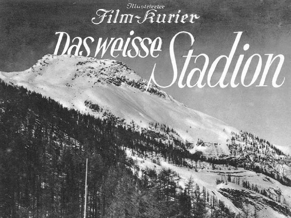 Olympia in St. Moritz: Arnold Fanck filmte 1928 die Winterspiele.   | Foto: Verlag für Filmschriften(ZDF)