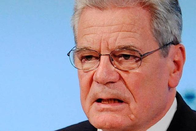 Gauck fordert mehr Engagement Deutschlands