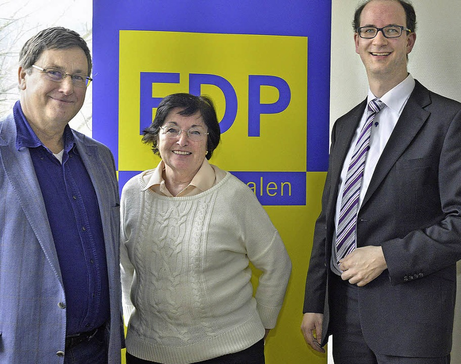 Die Top drei der FDP-Liste: Patrick Ev...Sascha Fiek führen die 48er-Liste an.   | Foto: Michael Bamberger