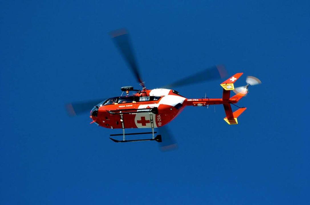 Einsatz für den Rettungshubschrauber aus Basel  | Foto: Bernhard Seitz