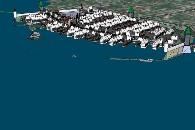 Wie das Hochwasser von 1480 Teile Neuenburgs in die Rheinfluten riss