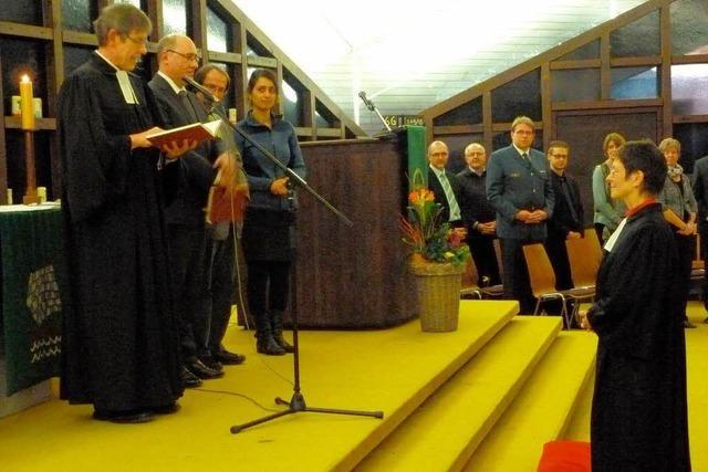 Gute Wünsche für die neue Pfarrerin