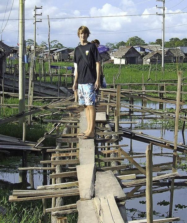 Simon Schnell  verbrachte mehrere Monate in Peru.  | Foto: privat