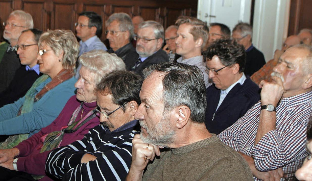 Das Publikum im Ratssaal des Alten Rathauses <ppp></ppp>  | Foto: Heidi Fössel