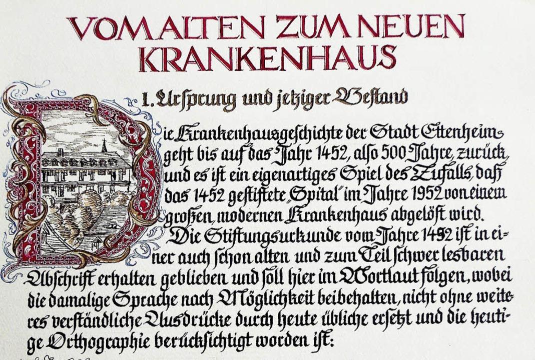 Eine der Schriften  | Foto: Bernhrd Uttenweiler