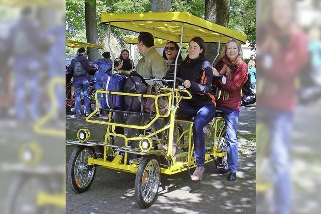 Mit Tretmobil unters Rad gekommen