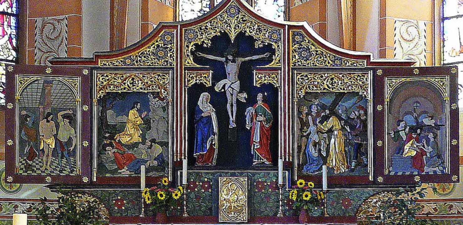 Die Pfarrgemeinde Buchenbach feiert am...ld zeigt den Hochaltar im Gotteshaus.     Foto: Martin Müller