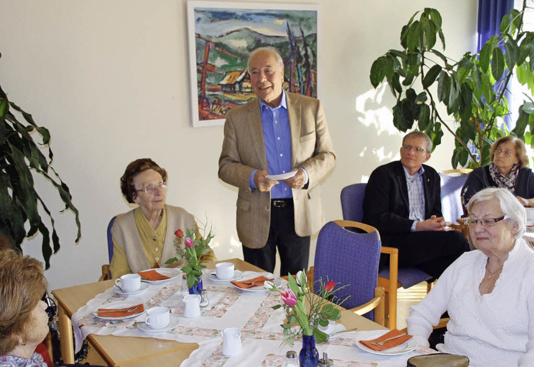 Bürgermeisterstellvertreter Siegfried ...afé in der Seniorenwohnanlage Stegen.     Foto: Andreas Peikert