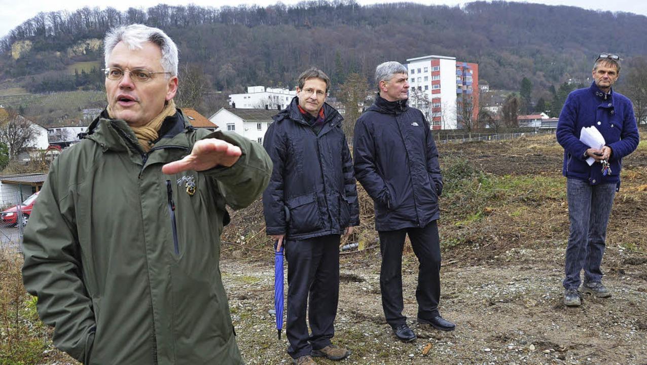 Richard Hürzeler (von links), Corneliu...tin Steckermeier auf der Kesslergrube.  | Foto: Peter Gerigk