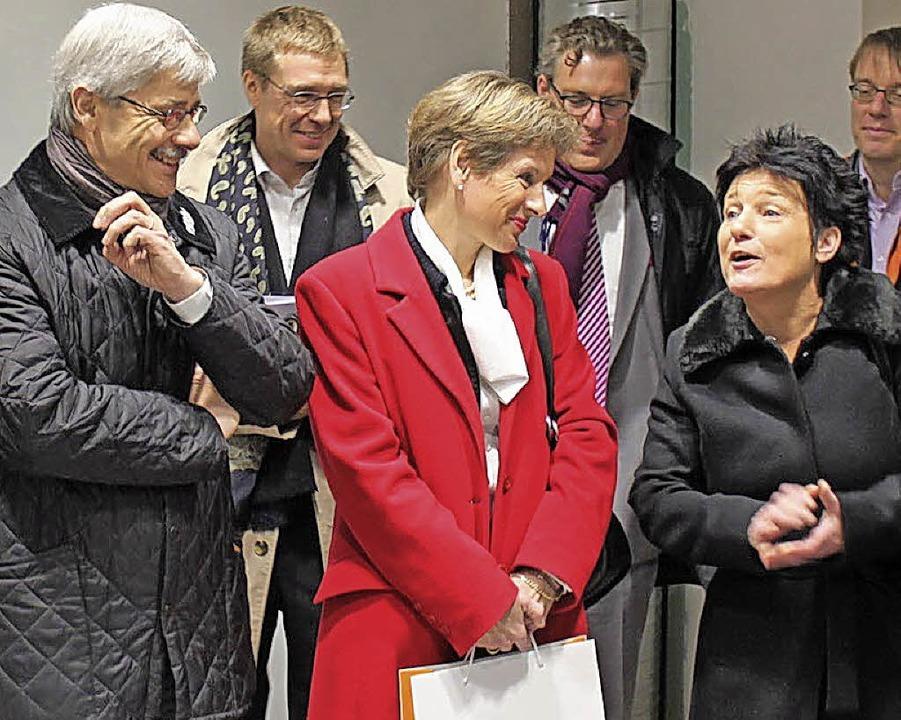 Katrin Altpeter (rechts), Marion Dammann und Carlo Conti     Foto: zvg