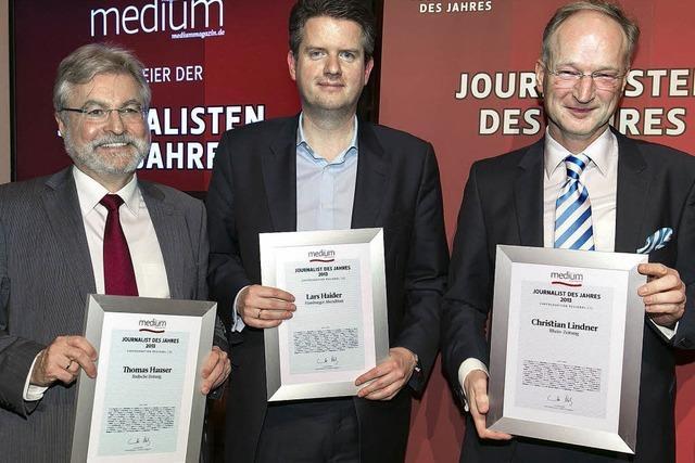 Auszeichnung für Chefredakteur Thomas Hauser