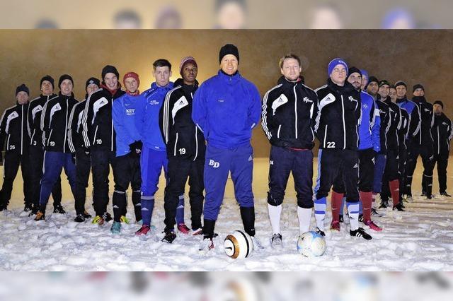 Kickschuhe als Schneepflüge