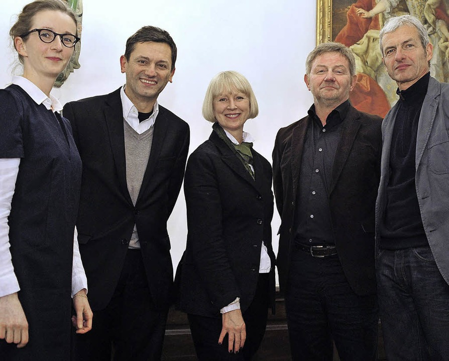 Der Gestaltungsbeirat (von links): Mir...dóttir, Wigbert Riehl und Tobias Wulf   | Foto: Thomas Kunz