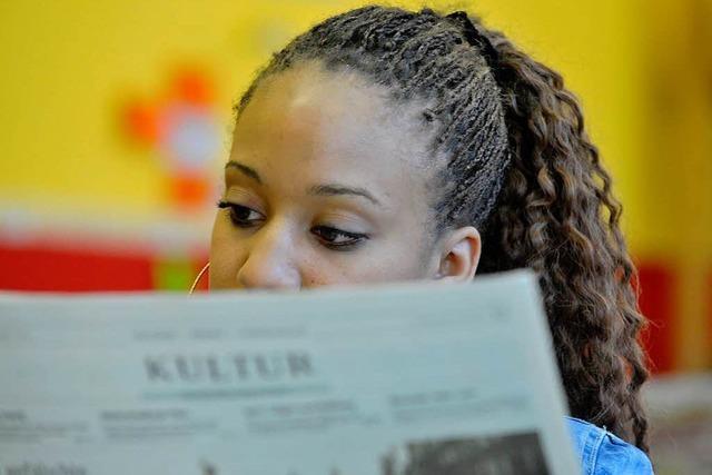 Mit der Zeitung Lesestrategien erwerben