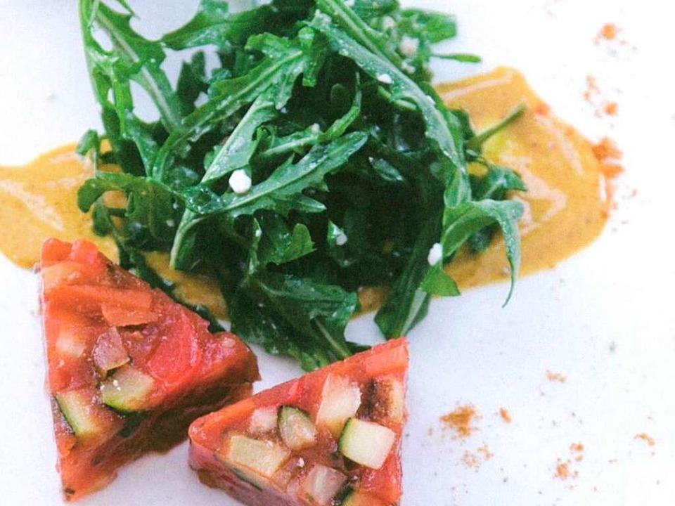 Nicht nur Vegetarier schätzen die Gemü...n mal mit Ruccola-Salat serviert wird.  | Foto: Michael Wissing