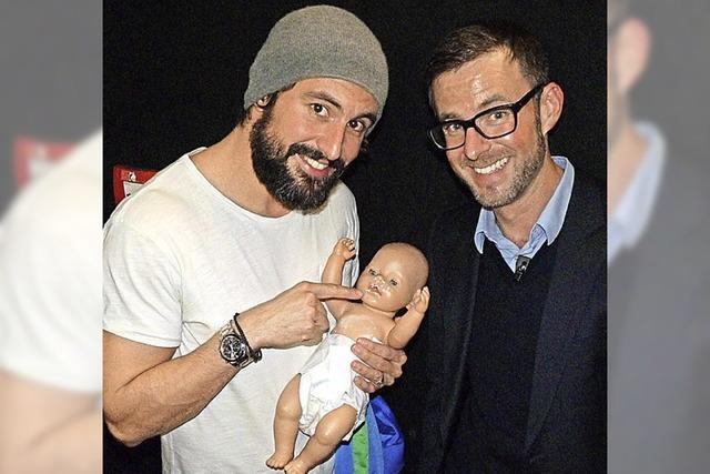 Drei Vaterfreuden-Stars in Plauderstimmung